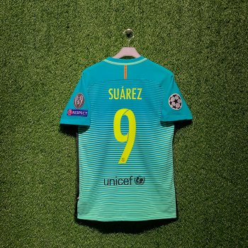 NIKE FC Barcelona 16/17 (3RD) PLAYER JSY With Namset(#9 SUAREZ) & Badge