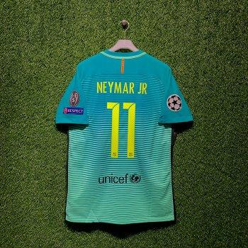 NIKE FC Barcelona 16/17 (3RD) PLAYER JSY With Namset(#11 NEYMAR JR) & Badge