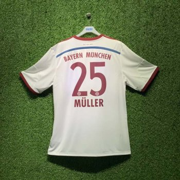 ADIDAS FCB 14/15 AWAY JSY WC S86760 with Nameset (# 25 MULLER)