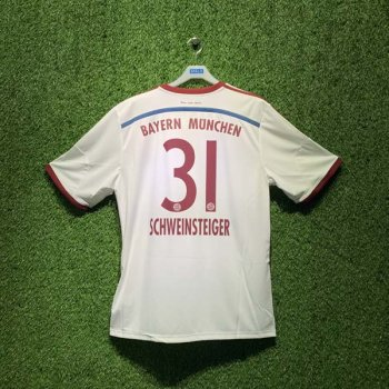 ADIDAS FCB 14/15 AWAY JSY WC S86760 with Nameset (# 31 SCHWEINSTEIGER)
