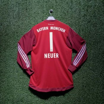 ADIDAS FCB 15/16 AWAY GK JSY RD/WHT S08657 with Nameset (#1 NEUER)
