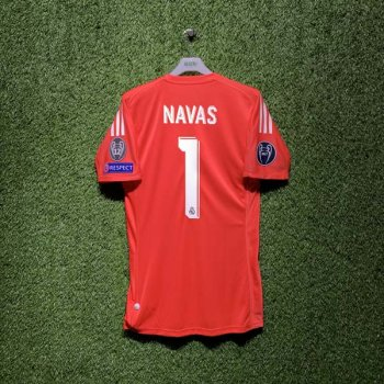ADIDAS REAL 17/18 AWAY S/S GK JSY B31084 with Nameset (#1 NAVAS) + Badge