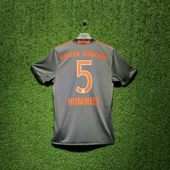 ADIDAS FCB 16/17 AWAY SS JSY GRY AZ4656 with Nameset (#5 HUMMELS)
