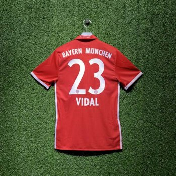 ADIDAS FCB 16/17 HOME SS JSY AU RD AI0039 with Nameset (#23 Vidal)