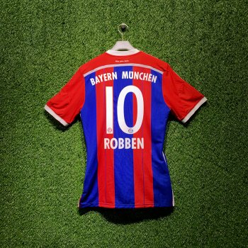 ADIDAS FCB 2014/15 HOME SS JSY M60403 with Nameset(#10 ROBBEN) BOX SET