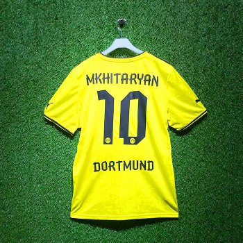 Puma BVB 13/14 Home Jersey With Nameset (#10 MKHITARYAN)