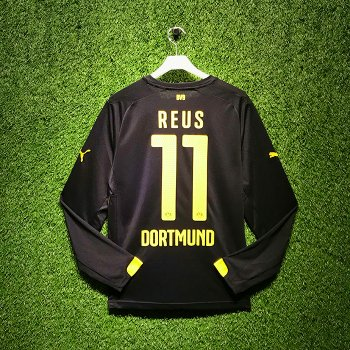 Puma BVB 15/16 Away LS Jersey With Nameset (#11 REUS )
