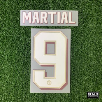 MUFC 19/20 HOME WHT #9 MARTIAL CLUBNAME
