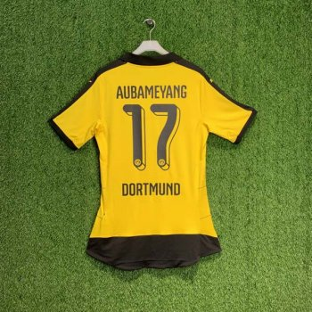 PUMA BVB 15/16 (H) Shirt ACTV AU 747989-01 with Nameset (#17 AUBAMEYANG)