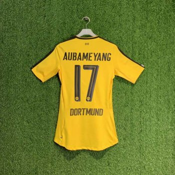 PUMA BVB 16/17 (H) AUTHENTIC S/S JSY 749818-01 with Nameset (# 17 AUBAMEYANG)