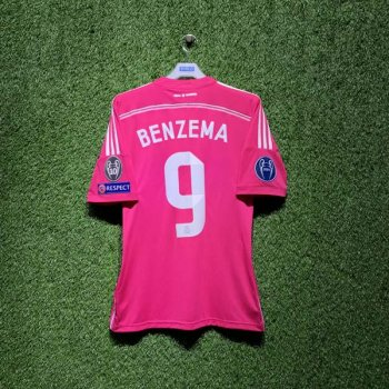 ADIDAS REAL MARDRID 14/15 (AWAY) JSY M37315 with Nameset ( # 9 BENZEMA) + BADGE