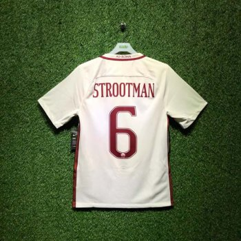 NIKE ROMA 16/17 (AWAY) STADIUM SS JSY WHT 776962-001 with Nameset (#6 STROOTMAN)