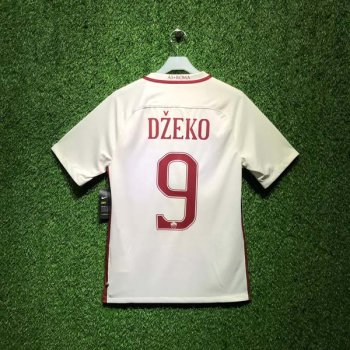 NIKE ROMA 16/17 (AWAY) STADIUM SS JSY WHT 776962-001 with Nameset (#9 DEZKO)