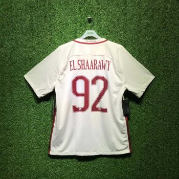 NIKE ROMA 16/17 (AWAY) STADIUM SS JSY WHT 776962-001 with Nameset (#92 ELSHAARAWY)