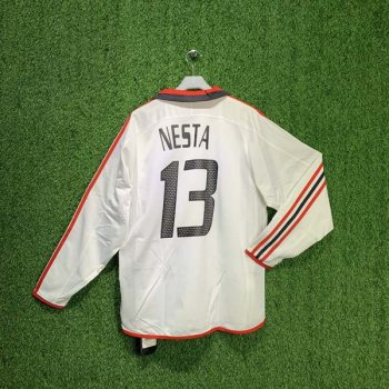 ADIDAS AC MILAN 03/04 (AWAY) L/S PLAYER w/ NAMESET (#13 NESTA)