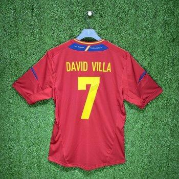 Adidas Spain 2012 (H) S/S X10937 #7 DAVID VILLA