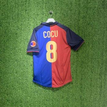 BARCELONA 99/00 Centenary Home Shirt w/ Nameset (#8 COCU)