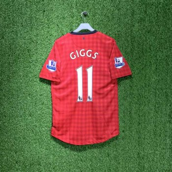NIKE MAN UTD 12/13 (HOME) S/S 479278-623 w/ NAMESET (#11 GIGGS) & EPL BADGE