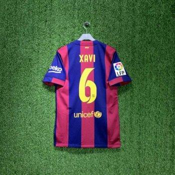 NIKE FC BARCELONA 14/15 (HOME) S/S STADIUM JSY 610594-422 w/ NAMESET (#6 XAVI) + LA LIGA BADGE + 6RACIES XAVI Patch