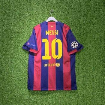NIKE FC BARCELONA 14/15 (HOME) S/S STADIUM JSY 610594-422 w/ NAMESET (#10 MESSI) + UCL BADGE