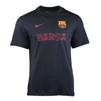 NIKE FC BARCELONA TEE CORE MATCH DARK OBSIDIAN AR0276-475