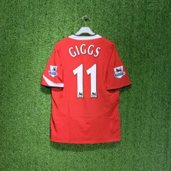 MUFC 04/05 (HOME) S/S JSY w/ NAMESET (#11 GIGGS) + EPL BADGE
