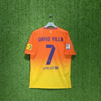 BARCELONA 12/13 (AWAY) S/S JSY 478326-815 w/ NAMESET  (#7 DAVID VILLA)