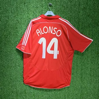 LIVERPOOL 06/08 (HOME) S/S JSY 053327 w/ NAMESET (#14 ALONSO)