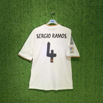 REAL MADRID 13/14 (HOME) S/S JSY Z29356 w/ NAMESET (#4 SERGIO RAMOS)