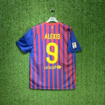 FC BARCELONA 11/12 (HOME) S/S JSY 419877-486 w/ NAMESET (#9 ALEXIS)