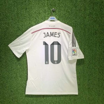 ADIDAS REAL MADRID 14/15 (HOME) JSY F50637 w/ NAMESET (#10 JAMES)