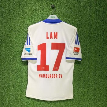 HAMBURG 13/14 (HOME) S/S JSY Z27080 w/ NAMESET (17 LAM)  + BADGE