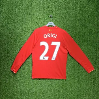 NEW BALANCE Liverpool FC 15/16 (H) L/S Jersey RD WSTM543 with #27 ORIGI